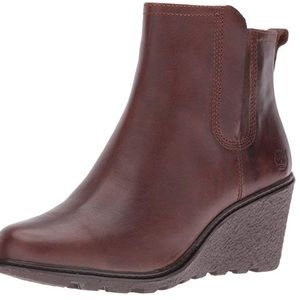 Timberland Amston Chelsea Brown Leather Wedge Boot